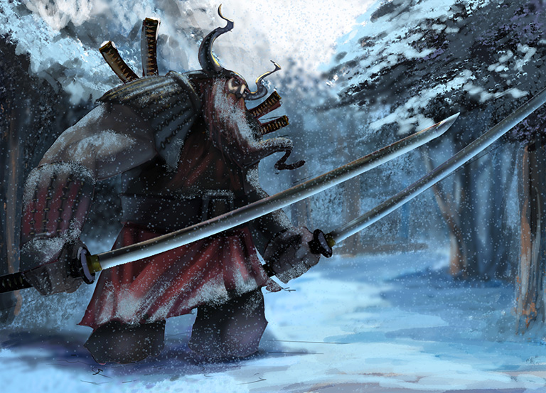 Viking samuray. Concept art